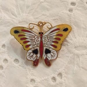 Vintage butterfly pin and pendant